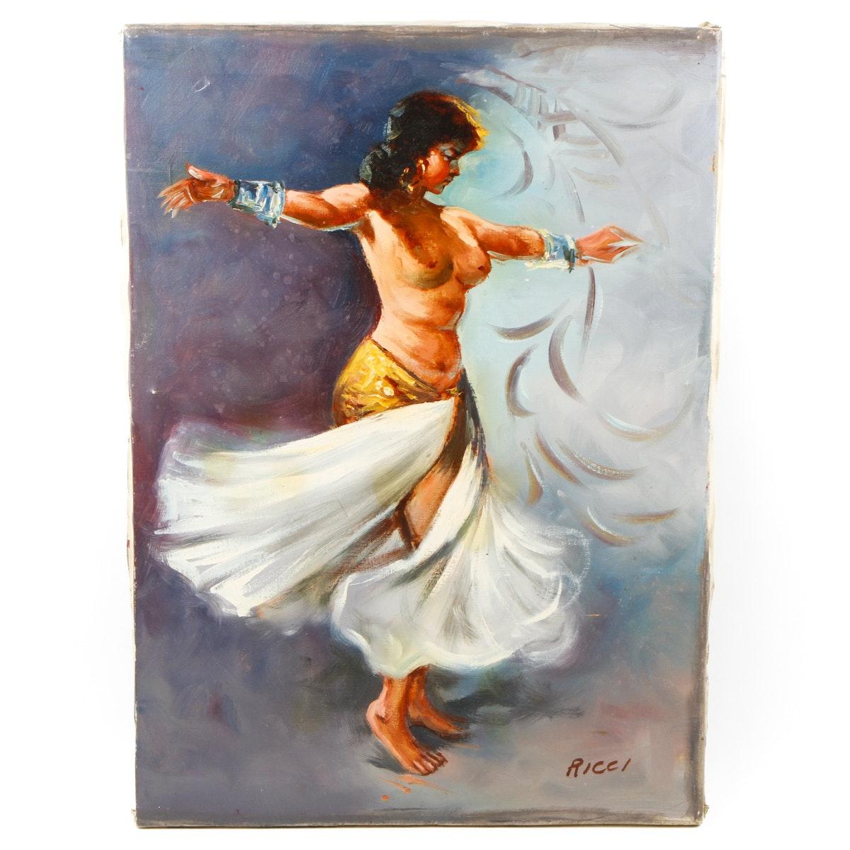 Original Female Figure Oil Painting