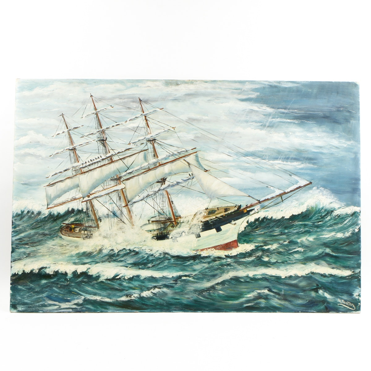 Painting of a Ship at Sea