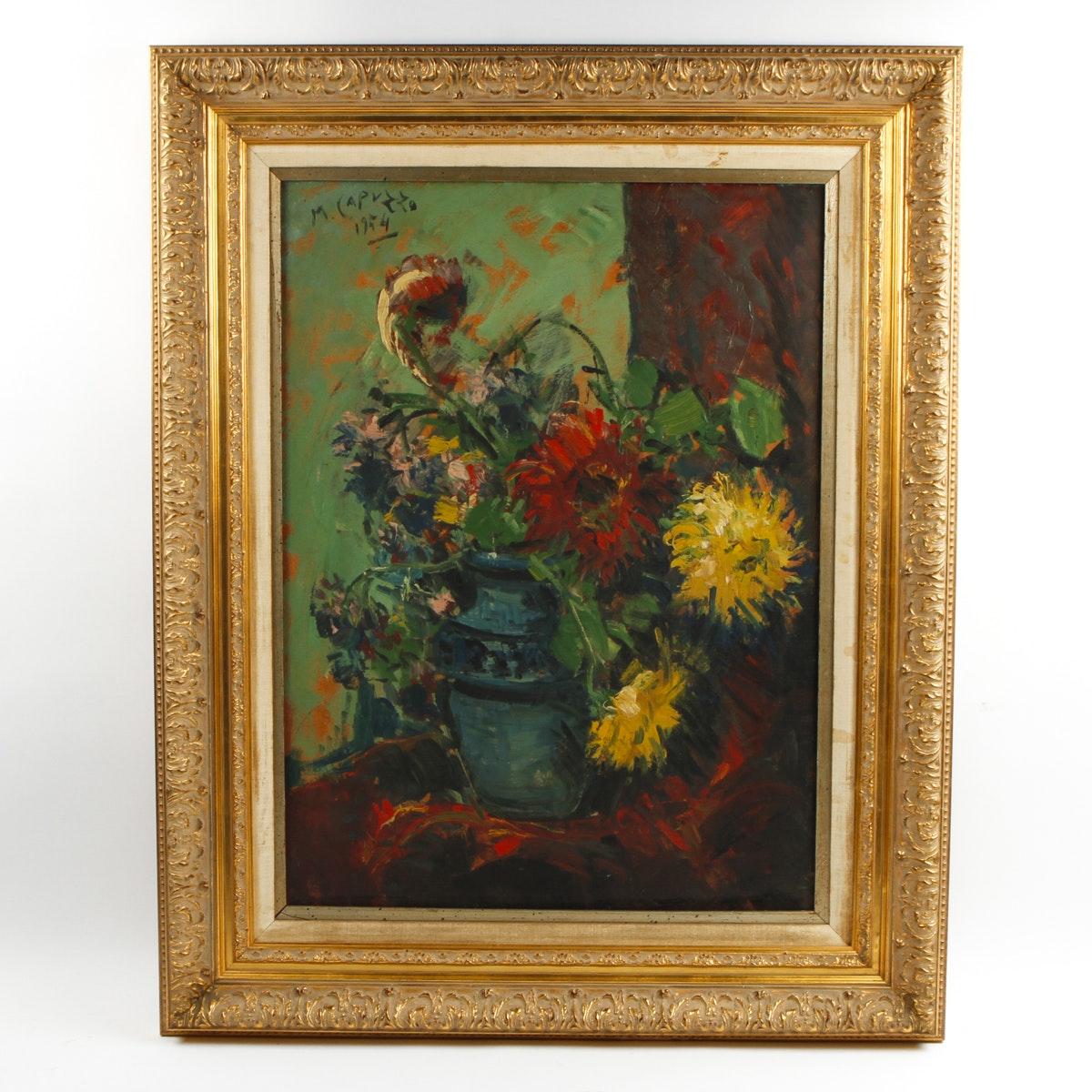 Oil Still Life of Flowers