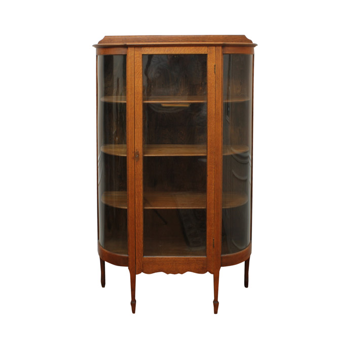 Mission Style Oak Display Cabinet : EBTH