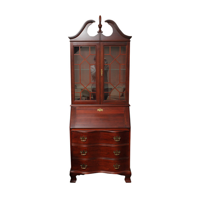 Federal Style Cherry Secretary Bookcase by Jasper Cabinet : EBTH