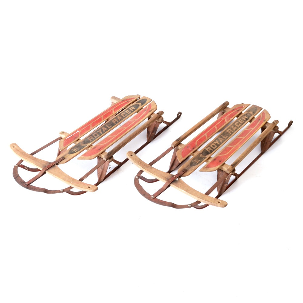 Pair of Vintage Royal Racer Sleds