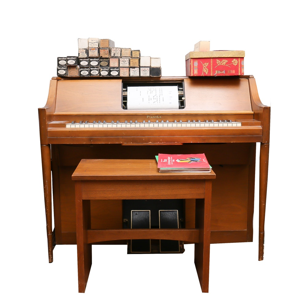 Pianola Player Piano, Music Rolls and Instructional Books