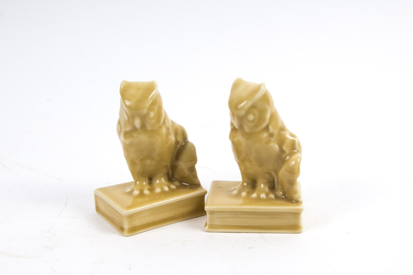 1946 Rookwood Pottery 2655 Owl Bookends