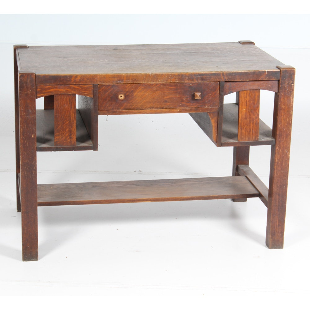 Antique Arts and Crafts Style Desk