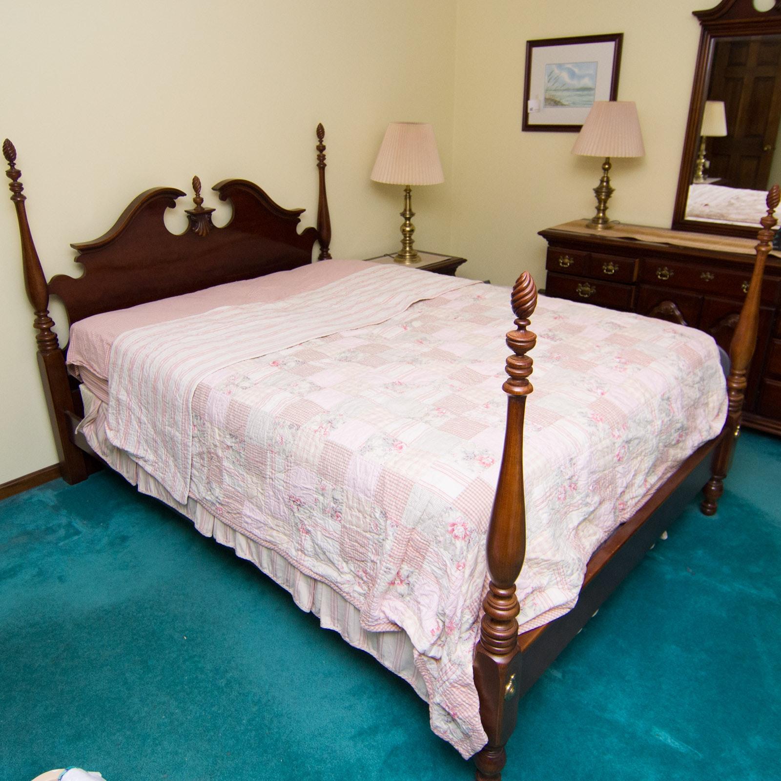 Lexington Furniture Queen Size Four Post Bed Ebth