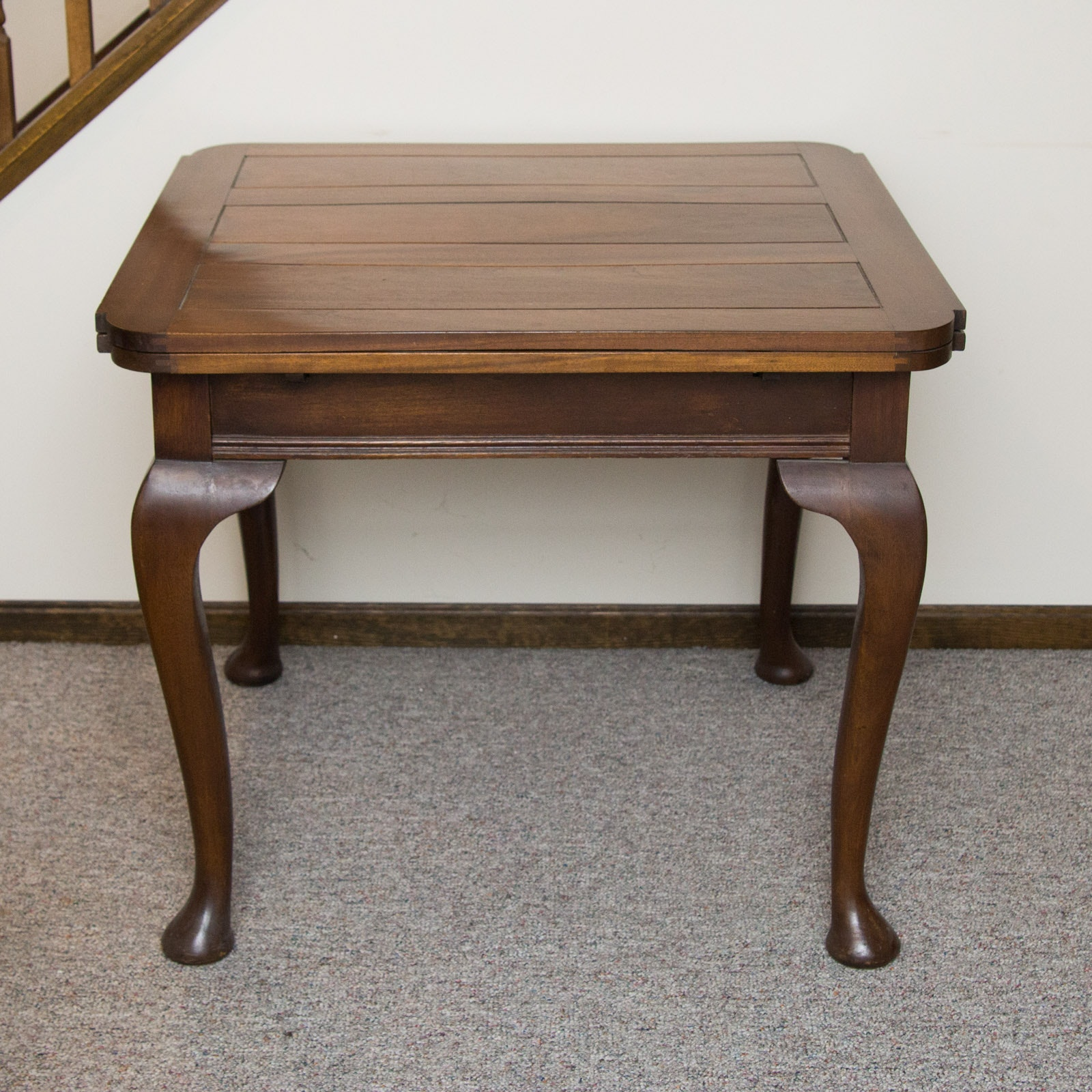 Vintage Wooden Side Table With Pull Out Leaves ...