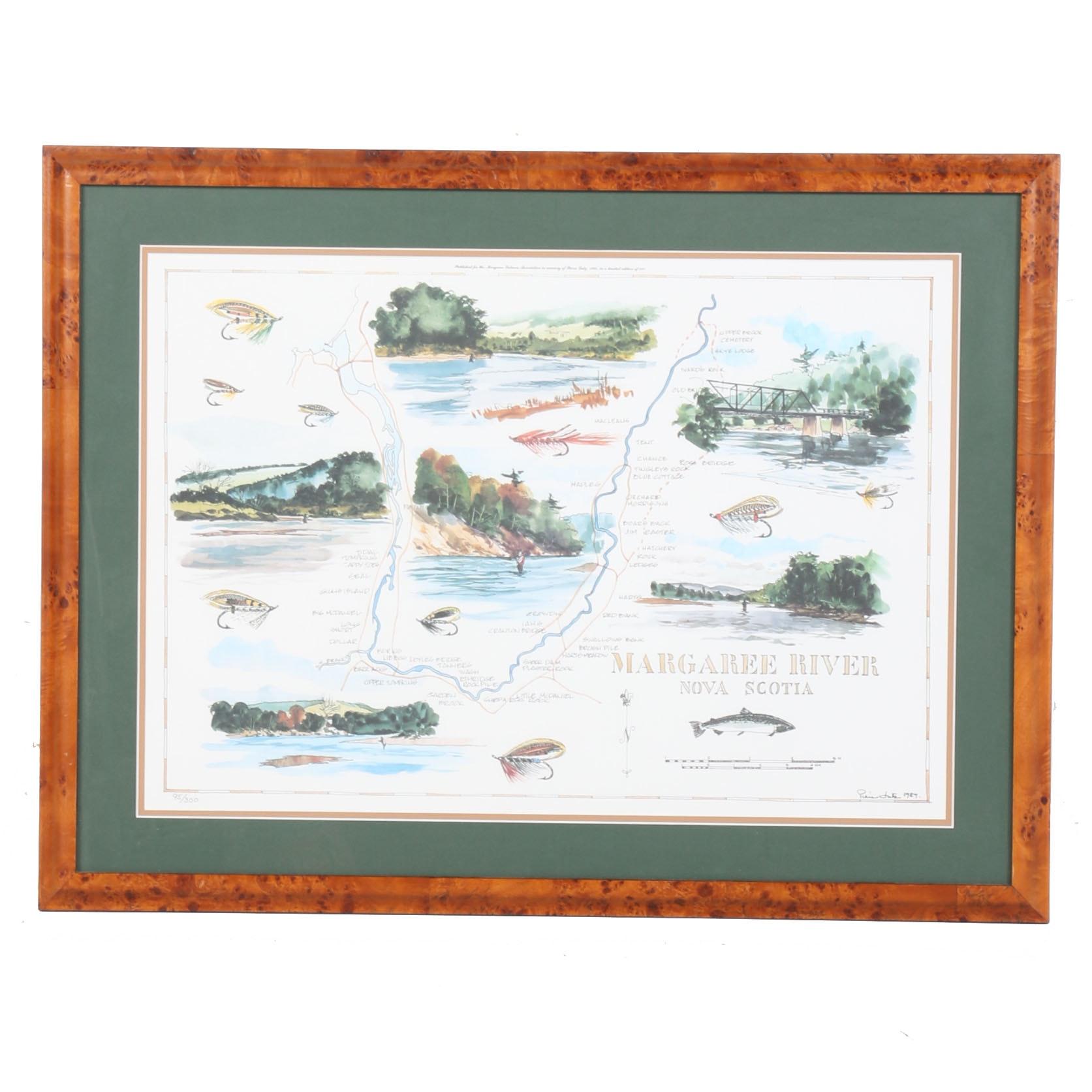 "After Pierre Lutz Print ""Margaret River Nova Scotia"""