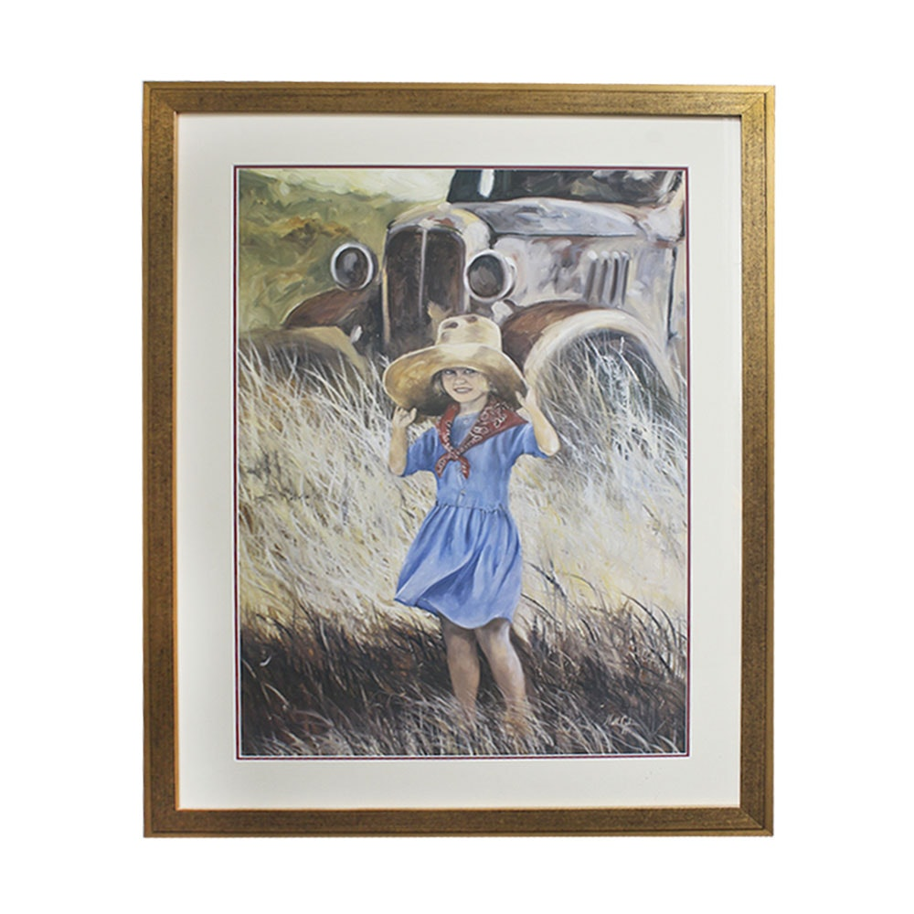 Neil Cahn Limited Edition Offset Lithograph of a Young Girl