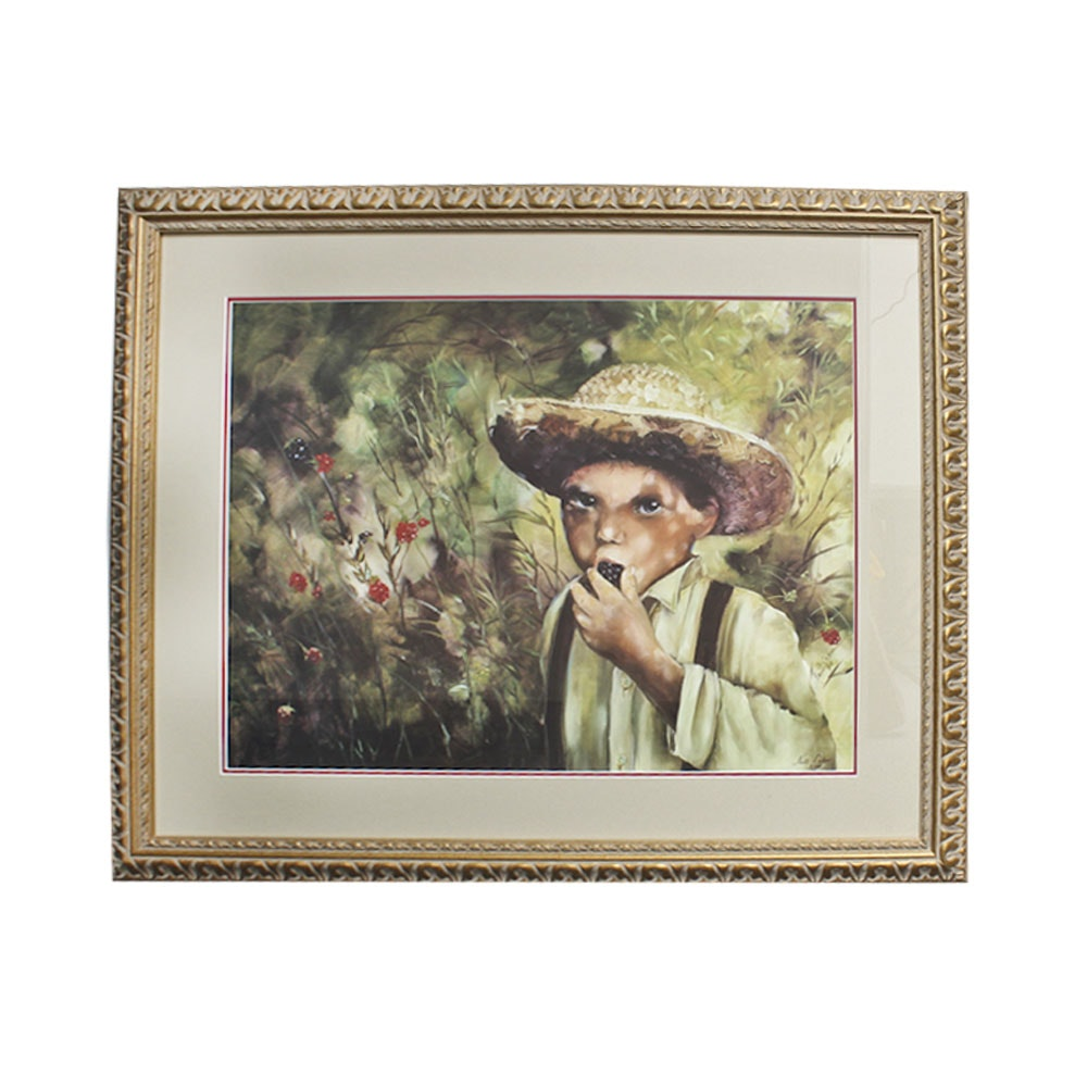 Nell Cahn Limited Edition Offset Lithograph of a Young Boy