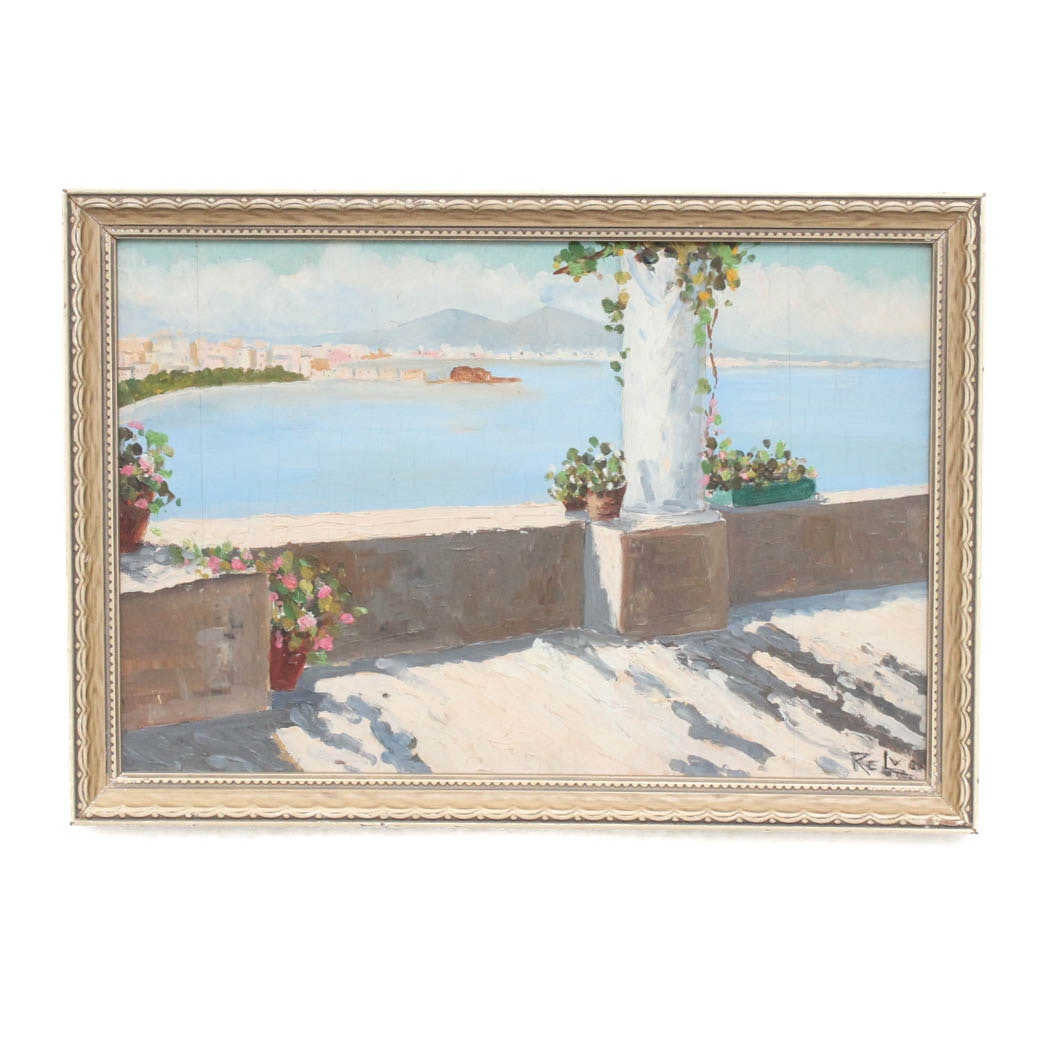 Original Mediterranean Landscape Oil Painting