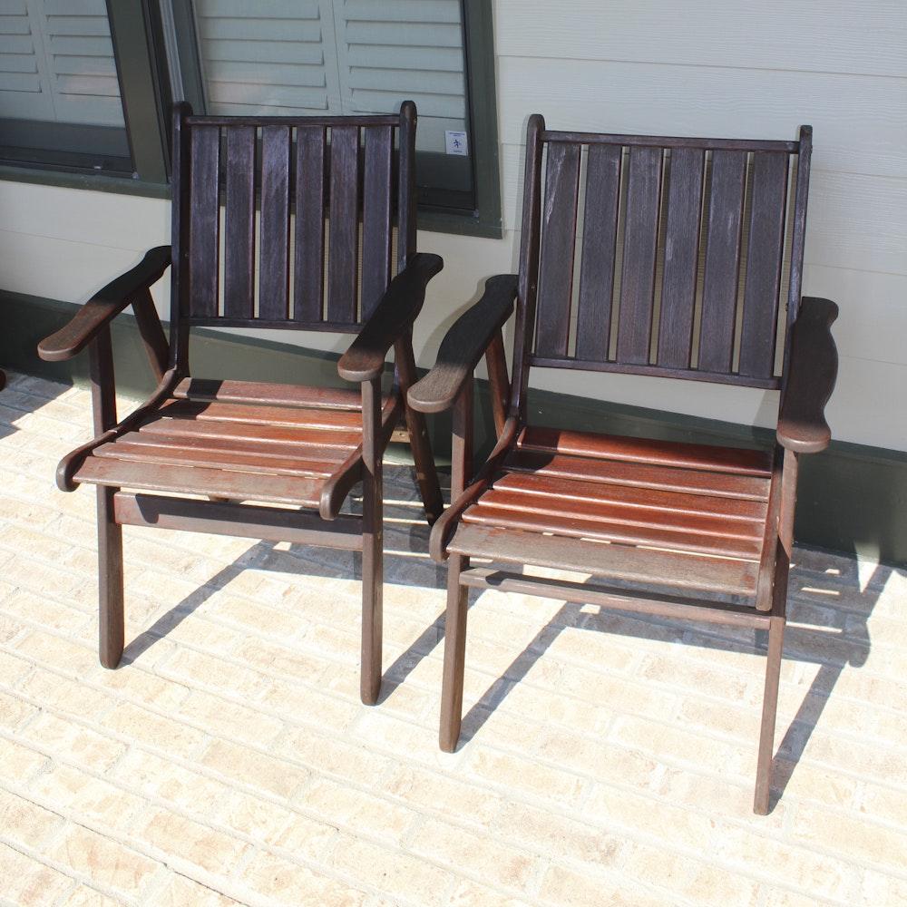 Jensen Jarrah Teak Patio Chairs ...