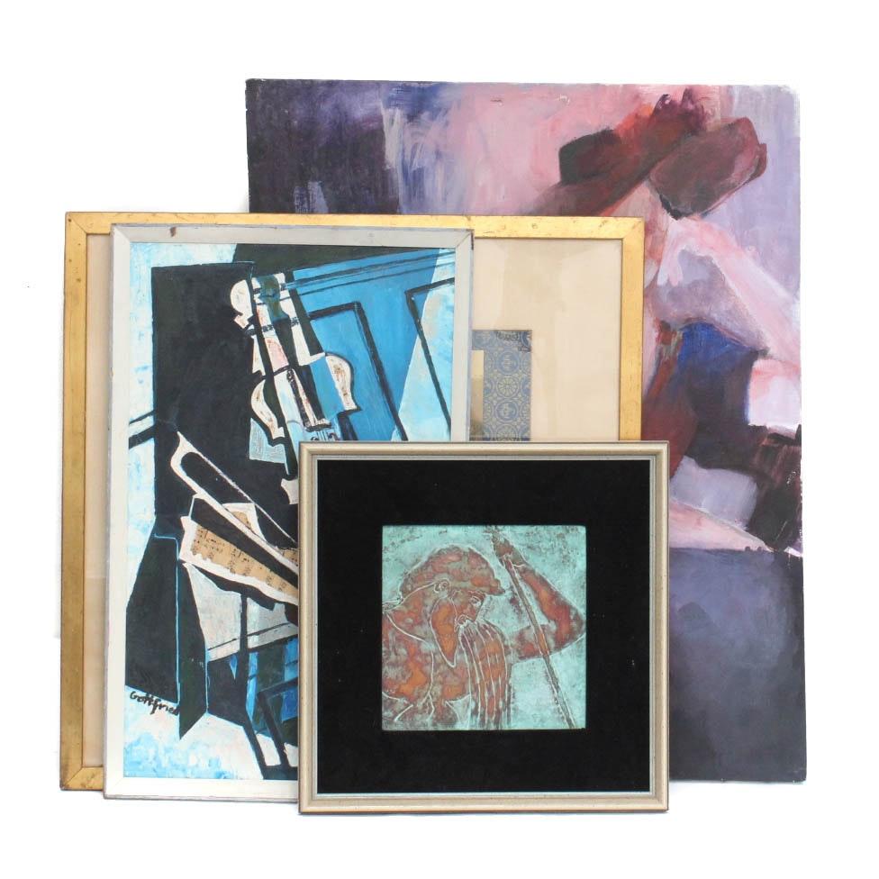 Selection of Framed Decorative Artworks