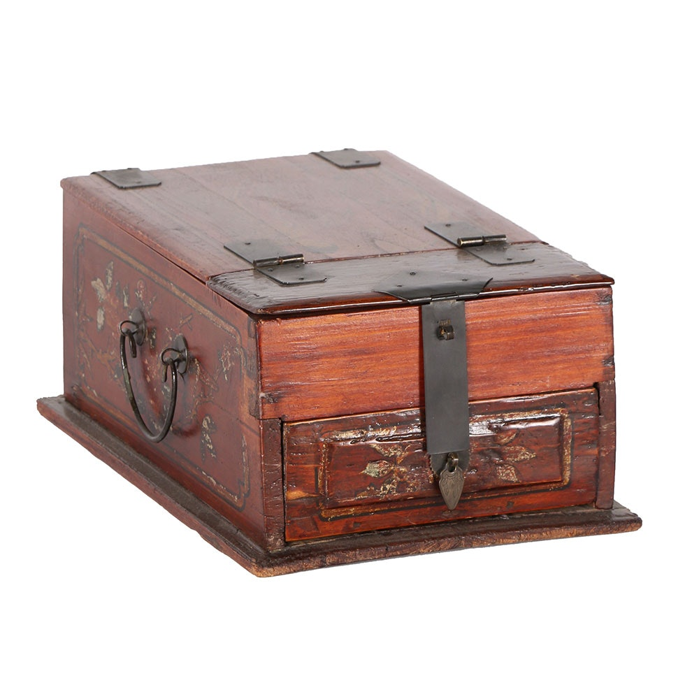 Chinese Folding Vanity Jewelry Box