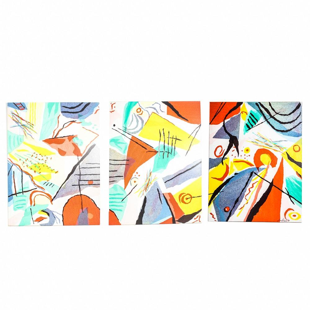 Sonia Knasin Mixed Media on Canvas Suite
