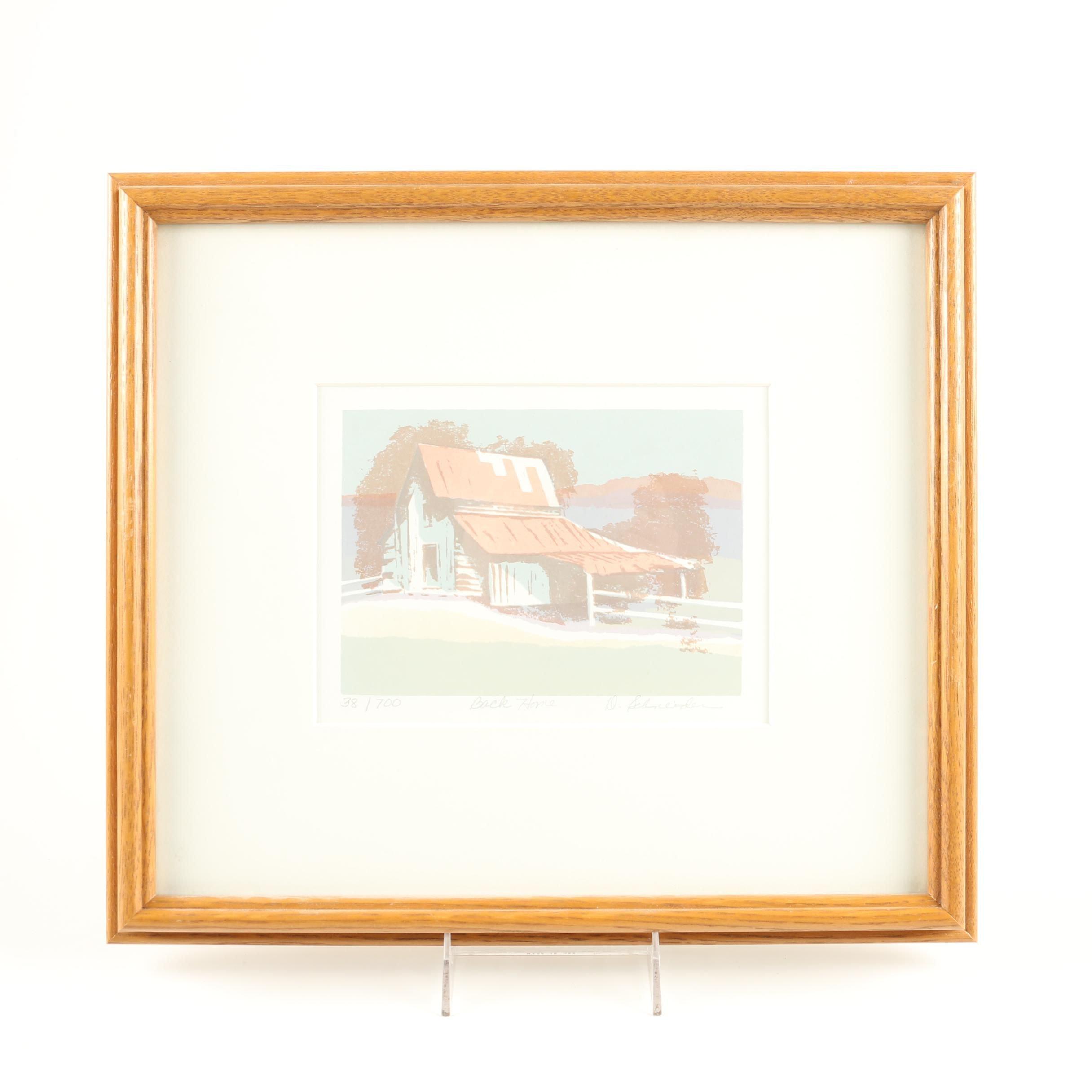 "D. Shneider Limited Edition Serigraph on Paper ""Back Home"""
