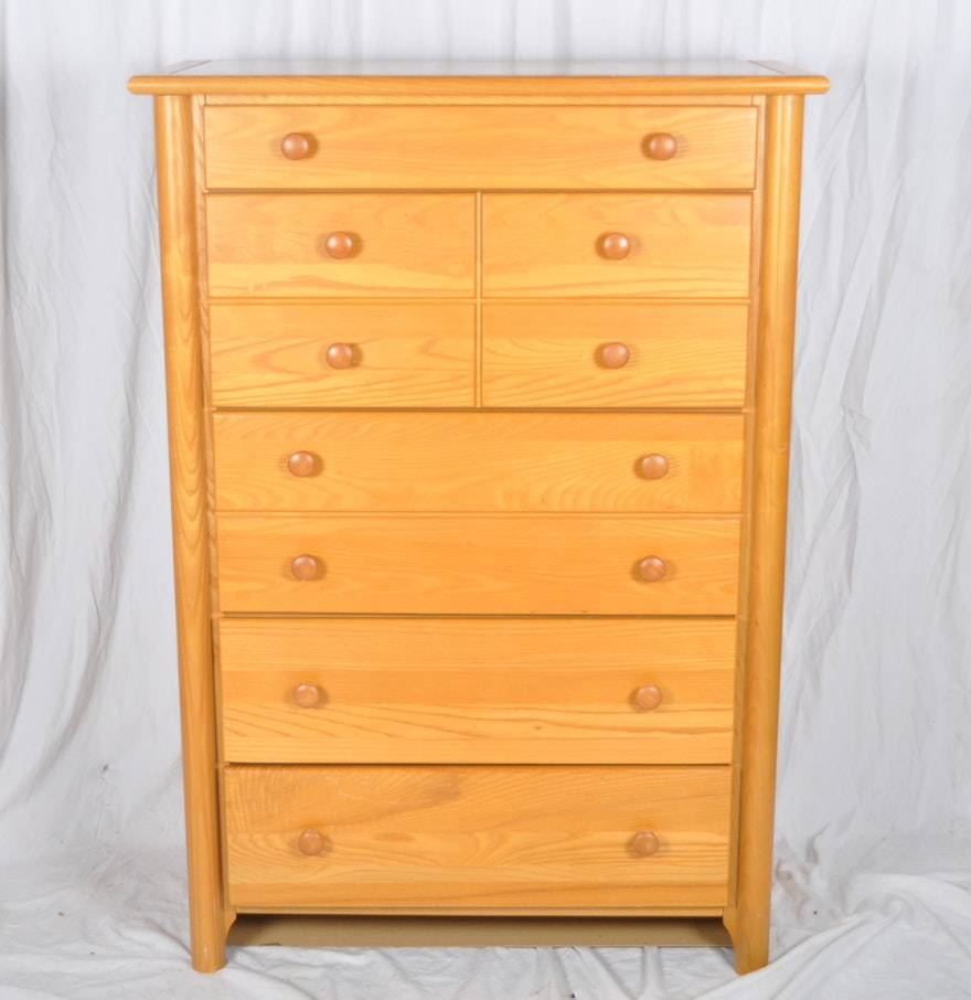 traditional maple wood vertical dresser  ebth - traditional maple wood vertical dresser
