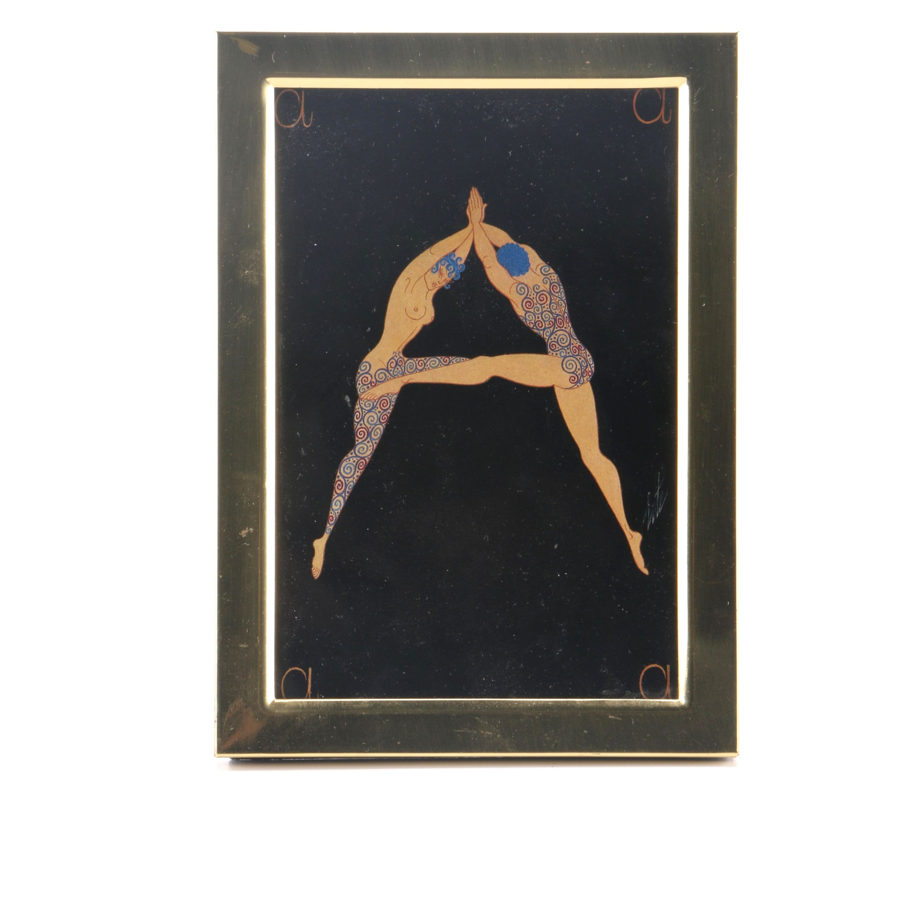 """After Erte Offset Lithograph on Paper Letter """"A"""" from """"The Alphabet Suite"""""""