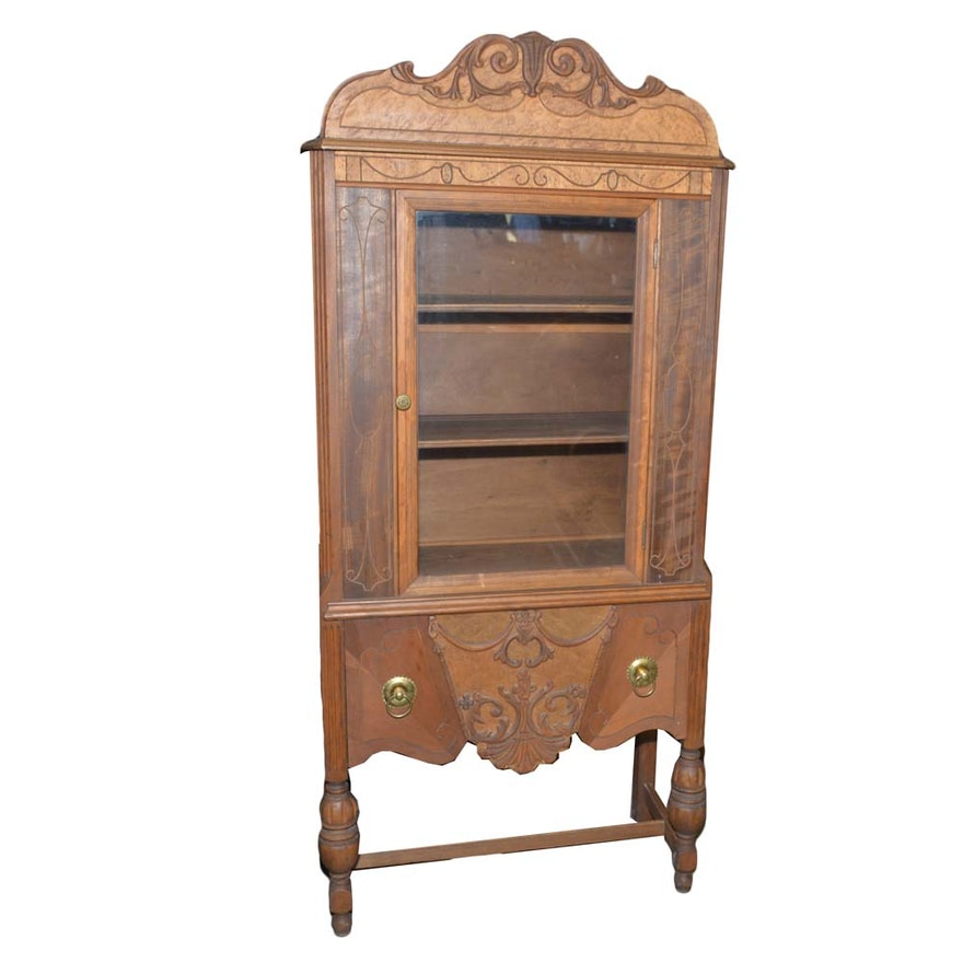 Vintage Sears Roebuck & Co. Eastlake Style China Cabinet ... - Vintage Sears Roebuck & Co. Eastlake Style China Cabinet : EBTH