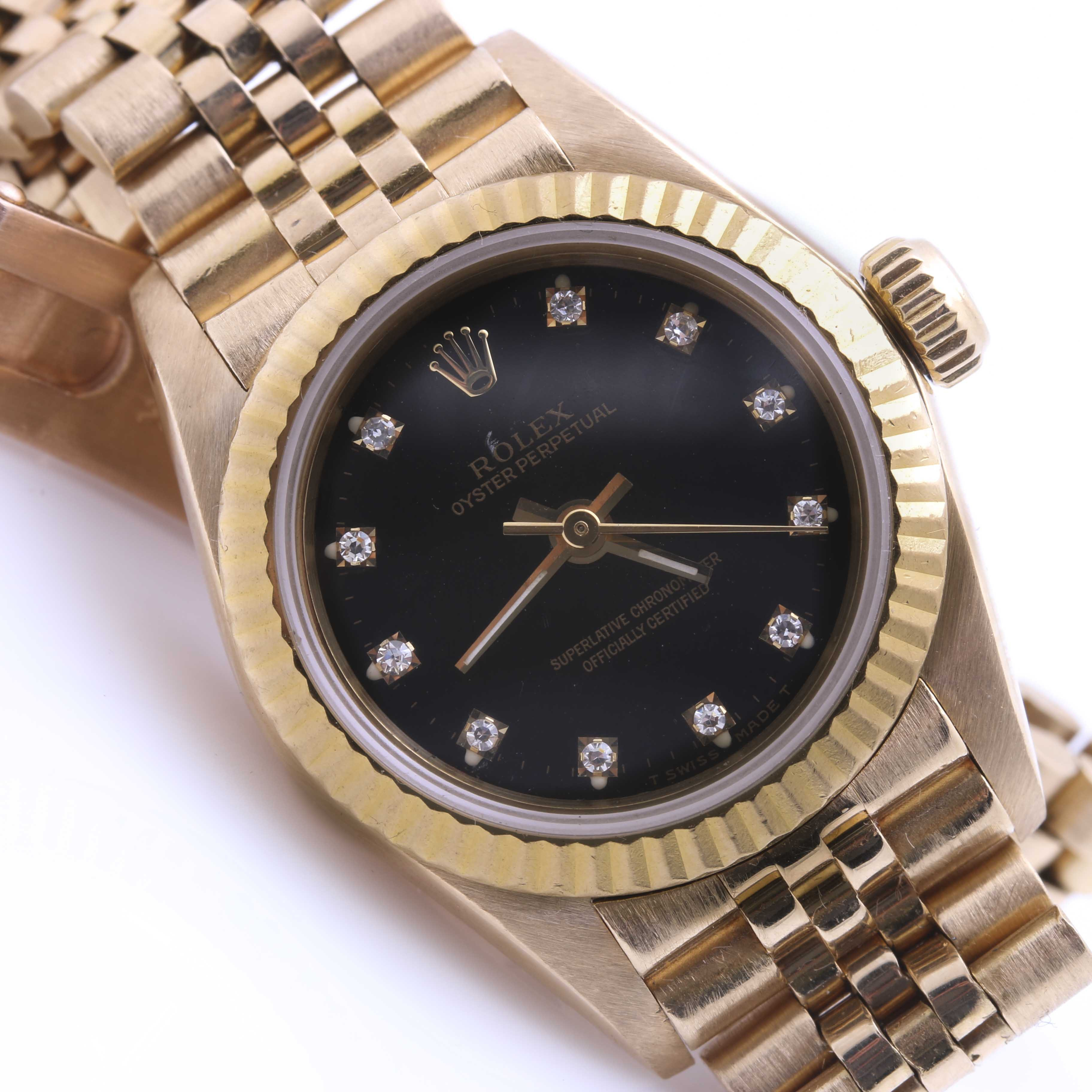 18K Gold Rolex Oyster Perpetual Wristwatch