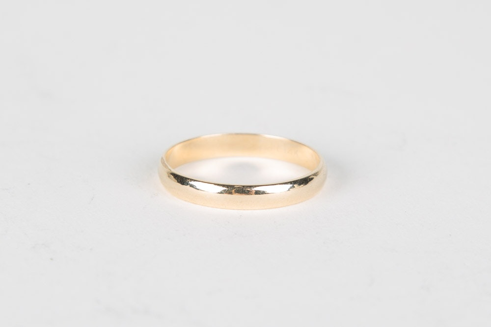 14K Gold Yellow Band
