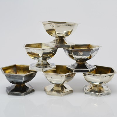 Six Webster Co. Sterling Silver Salts