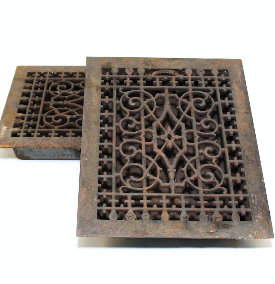 Antique cast iron floor grates meze blog for 10 x 12 floor grate