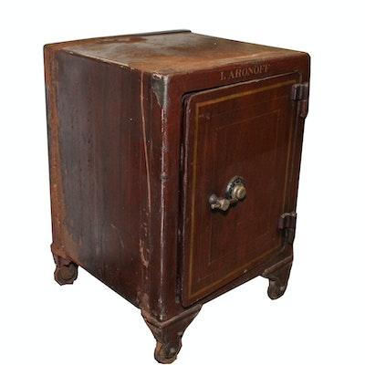 York Safe And Lock Company Very Heavy Antique Safe - Online Furniture Auctions Vintage Furniture Auction Antique