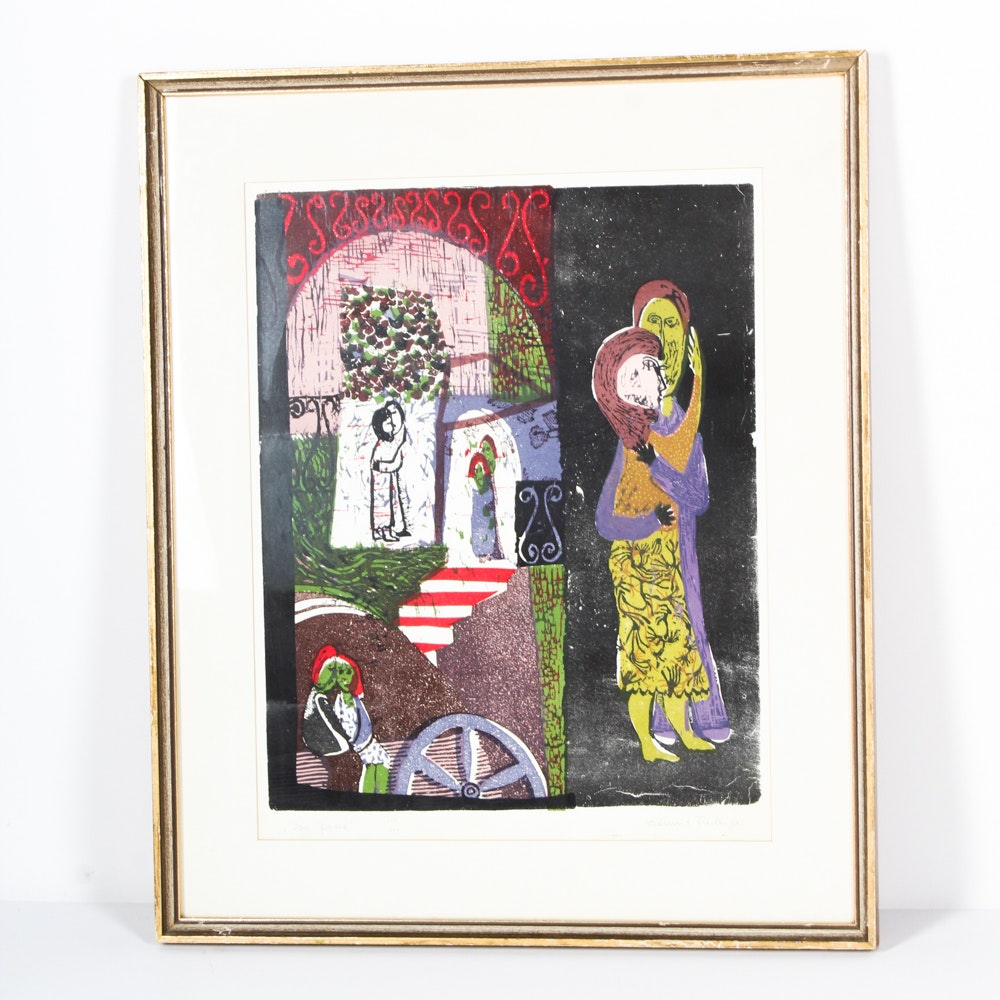 """""""Das Paar"""" (The Pair) Signed Limited Edition Serigraph"""