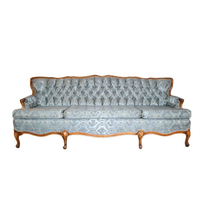 Vintage Provincial Louis XV Style Button Tufted Sofa ...