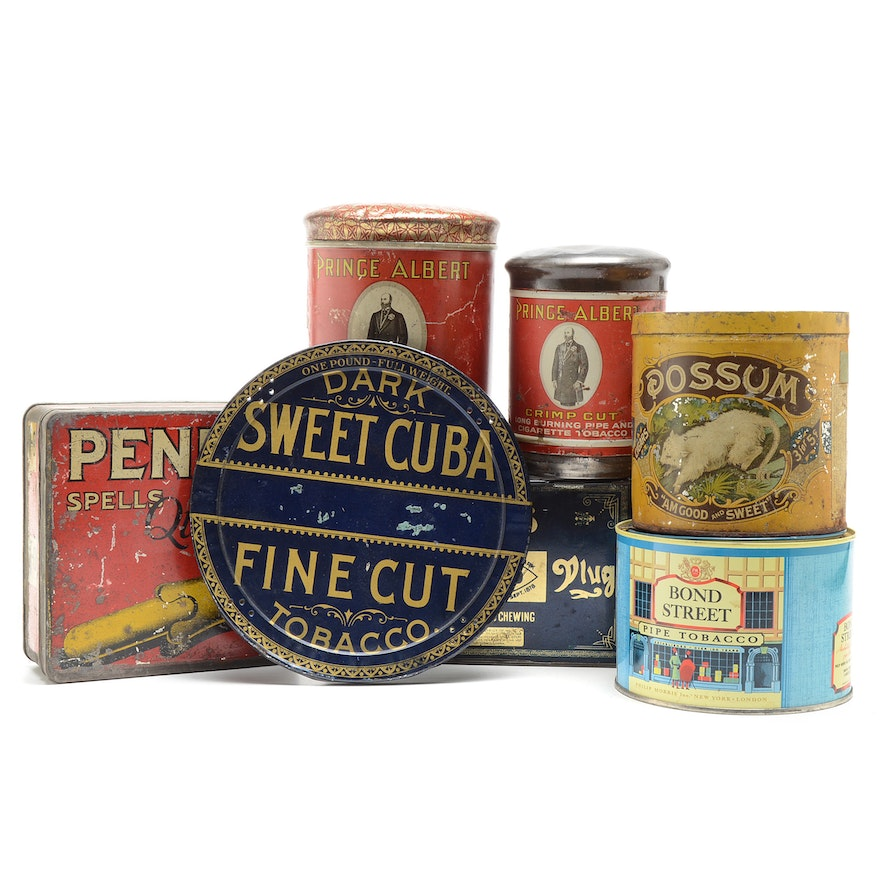 Vintage Tobacco Tin Containers
