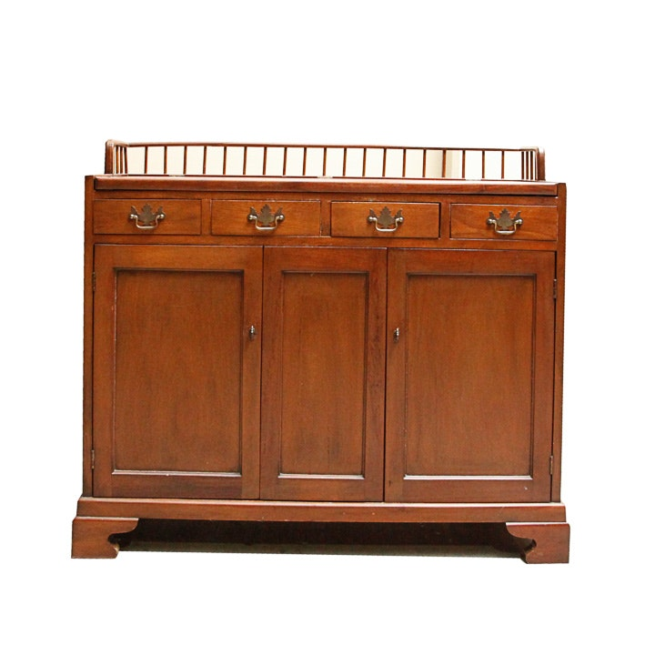 vintage chippendale style sideboard with flipup mirror - Antique Furniture For Sale
