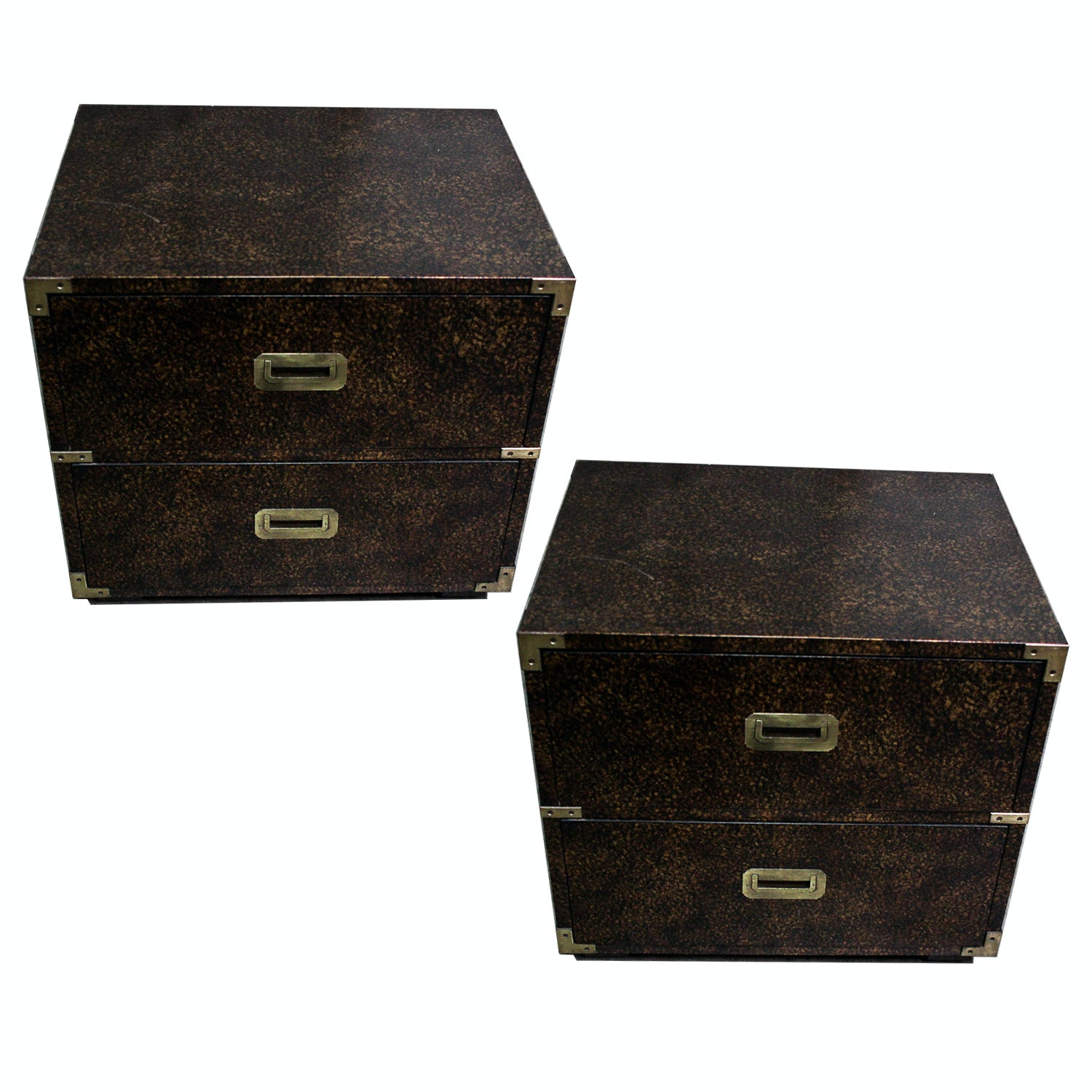 Pair of Vintage Henredon Campaign Chests