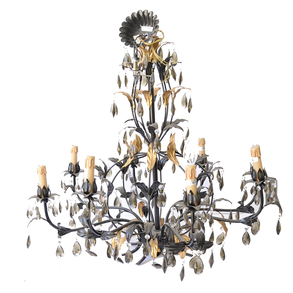 Black and Gold Tone Metal Chandelier