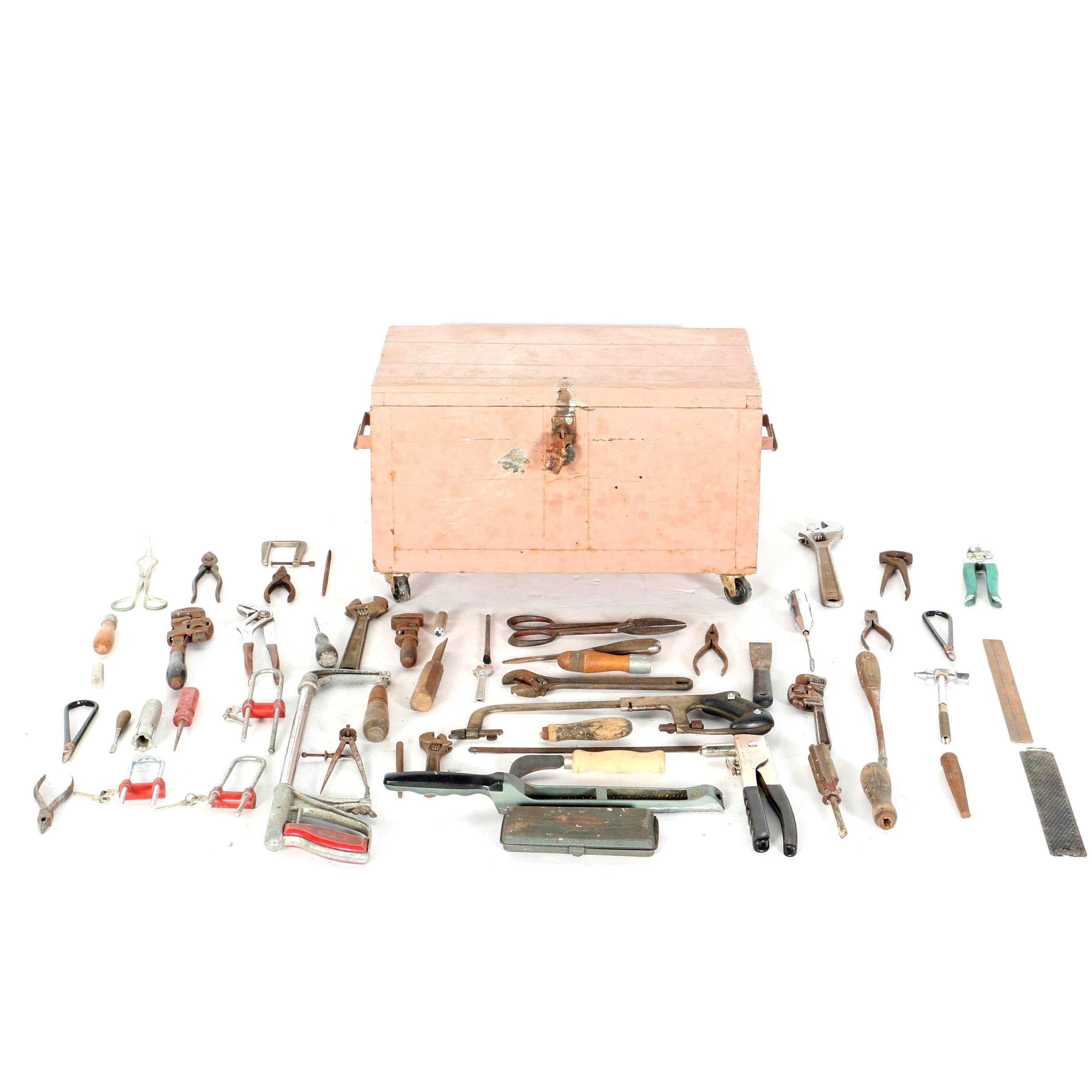 Wooden Tool Chest and Tools
