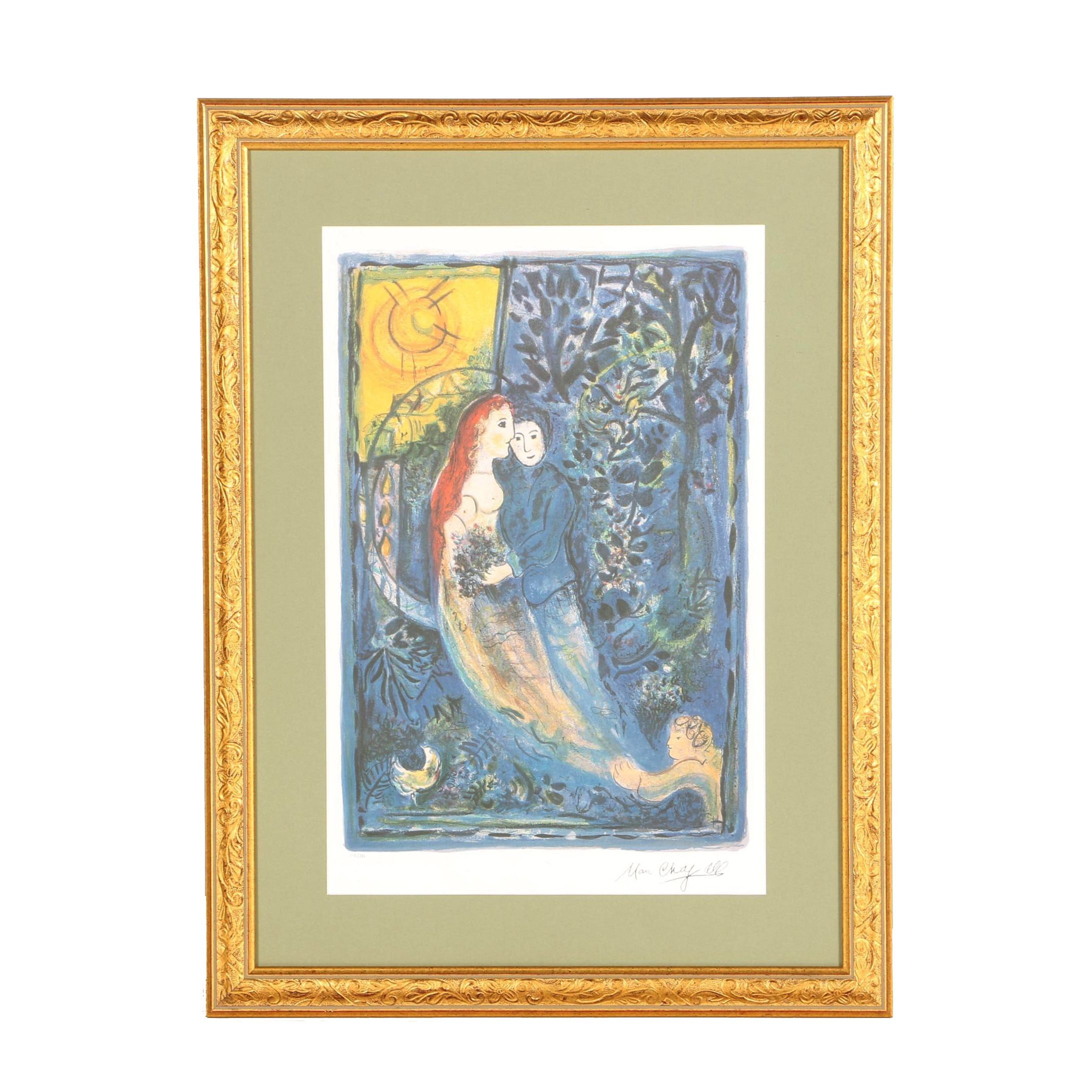 """After Marc Chagall Limited Edition Offset Lithograph """"Wedding"""""""