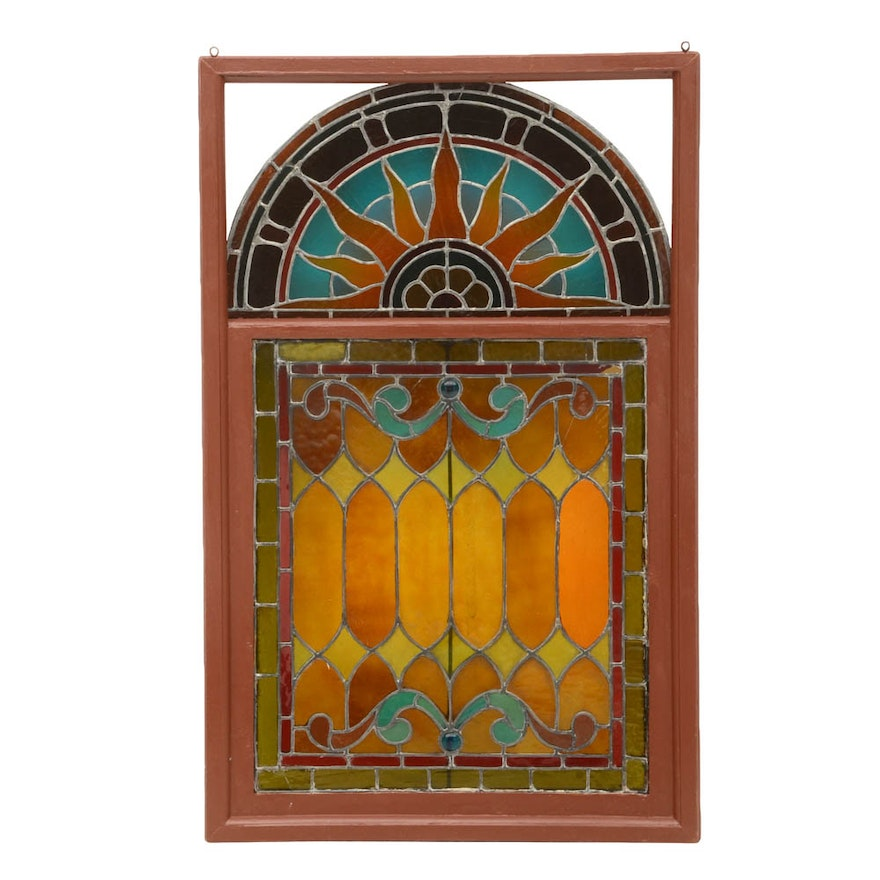 Antique Stained Glass Window Ebth