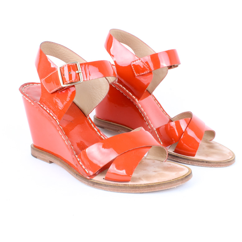 Sandals Orange Diane Von Wedge Furstenberg KuTFc5l1J3