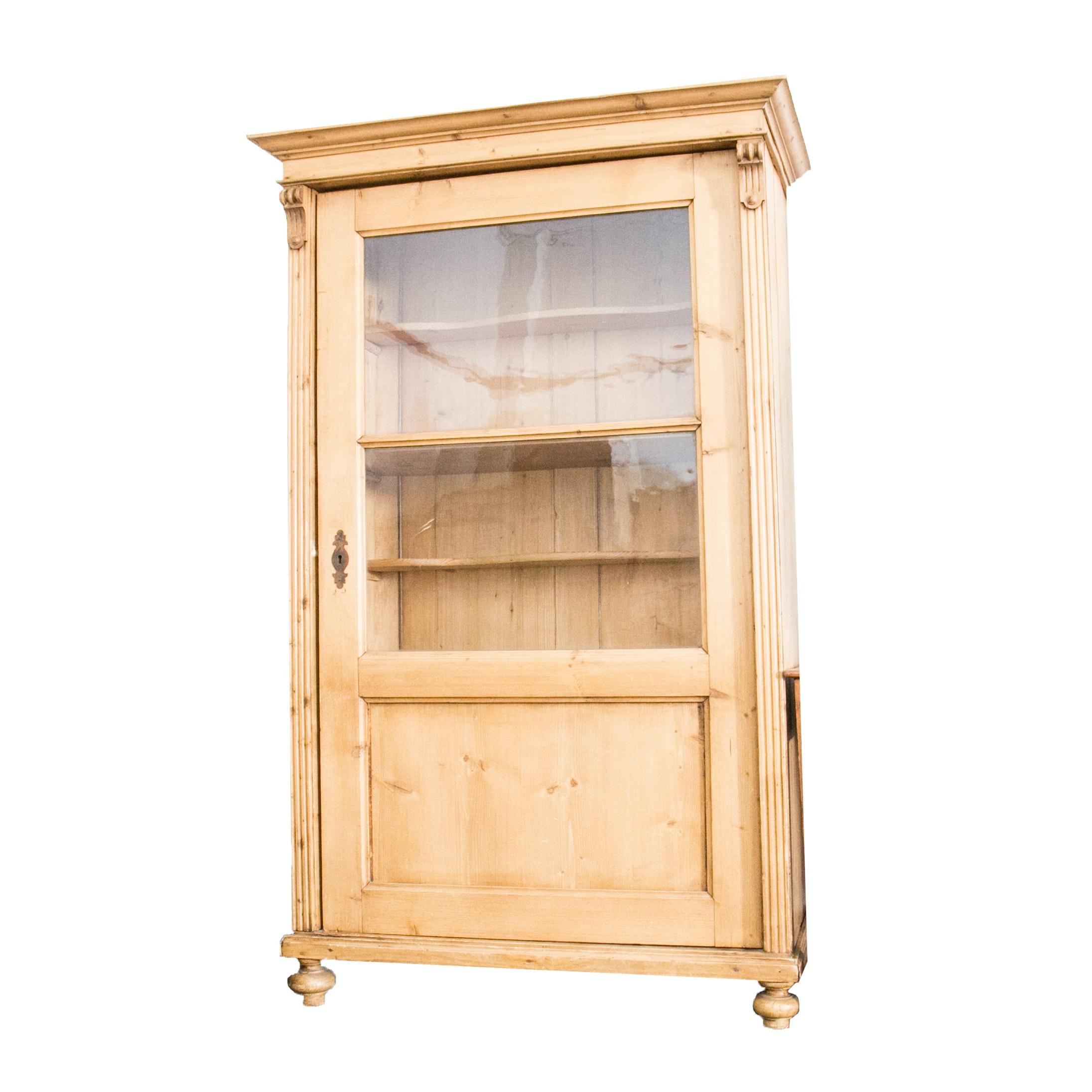 Antique European Pine Cabinet
