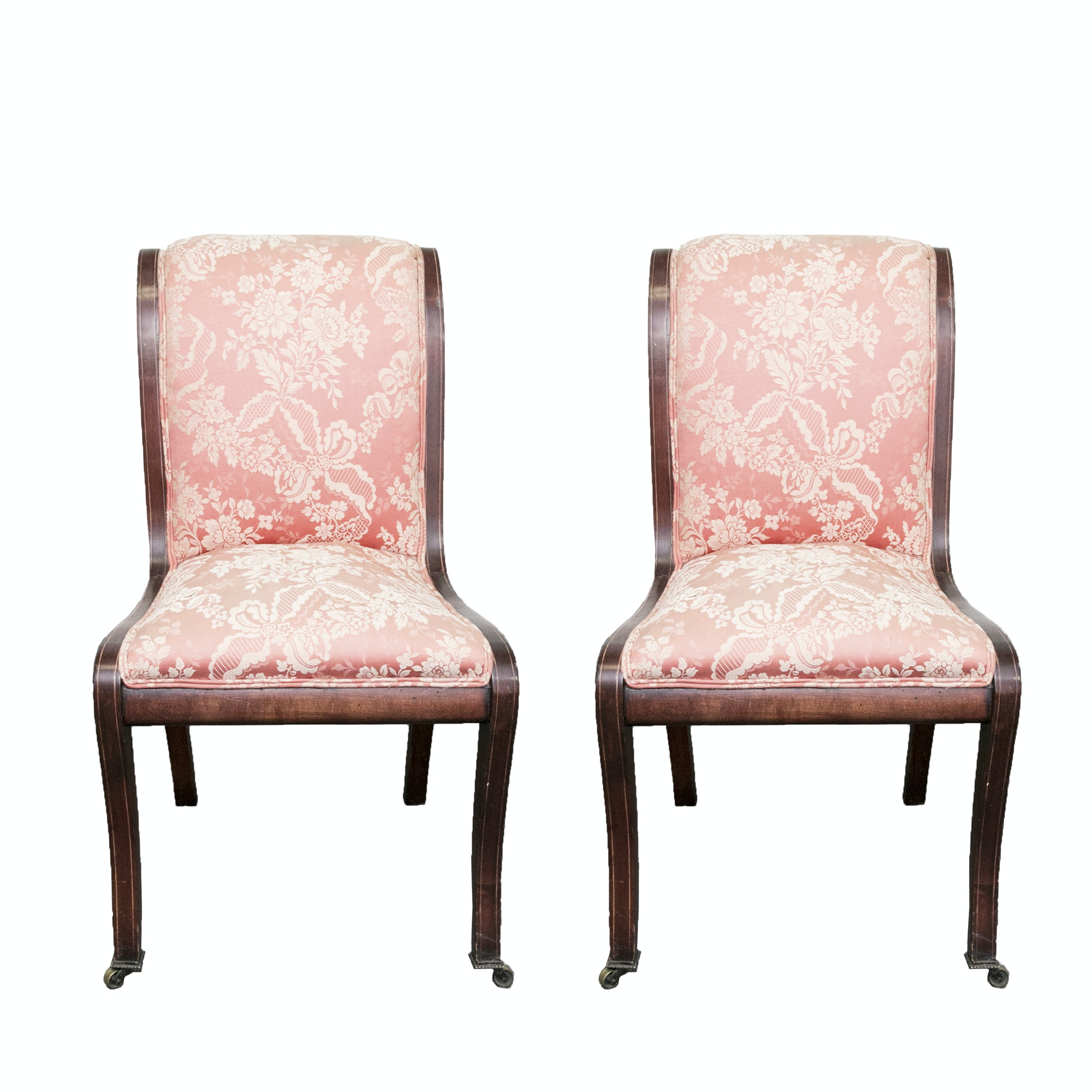 Neoclassical Style Mahogany Side Chairs