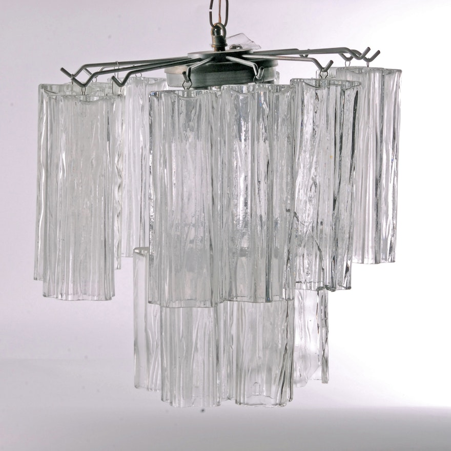Star Shaped Gl Cylinders Hanging Light Fixture