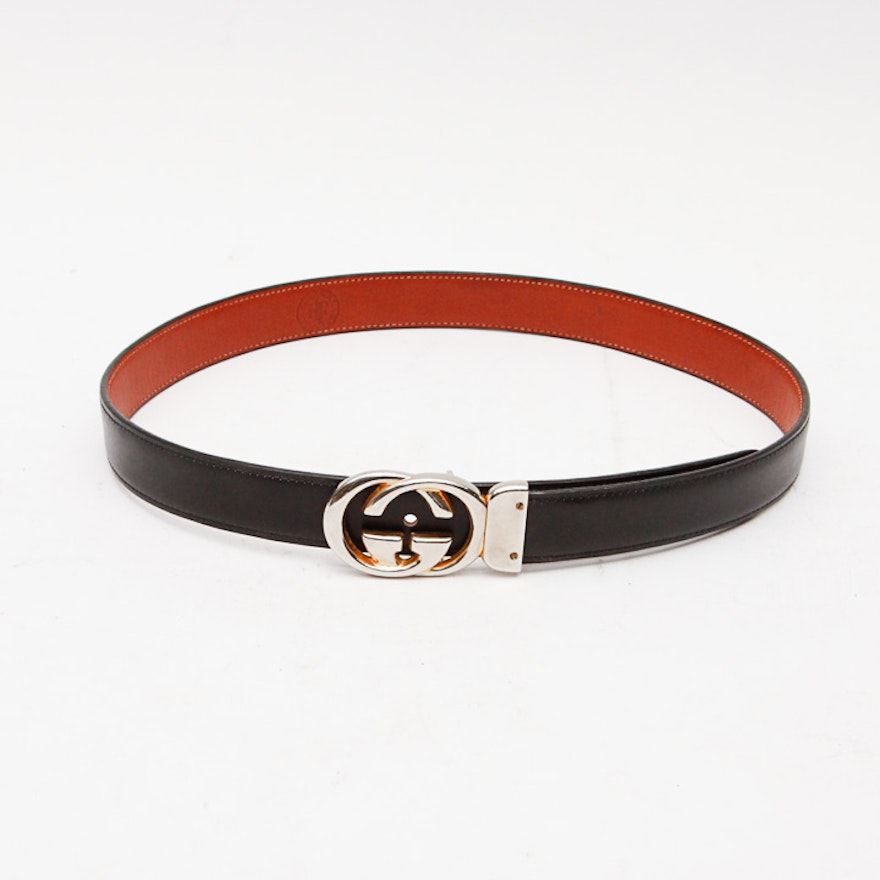 e1e081c637e House of Fleming Leather Belt With Vintage Gucci Buckle   EBTH