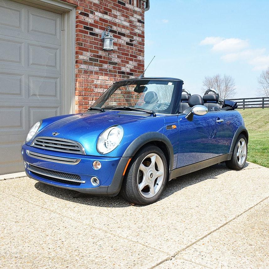 2006 Blue Mini Cooper Convertible