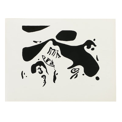 """George Vranesh Limited Edition Serigraph on Heavy Stock Paper """"Day #2"""""""