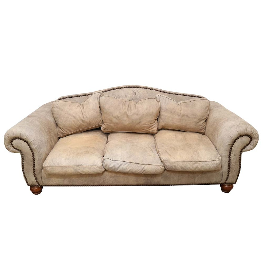 Hickory Fry Distressed Leather Sofa