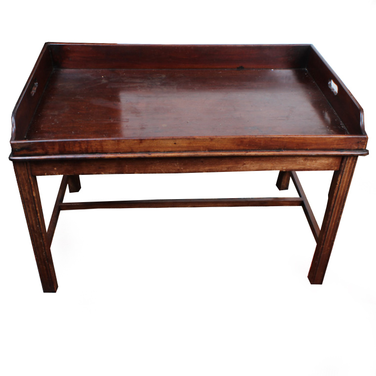 Antique Georgian Style Mahogany Butlers Tray Coffee Table EBTH