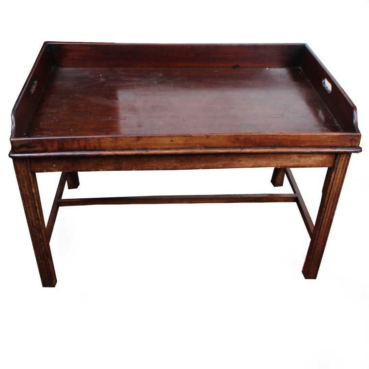 Beau Antique Georgian Style Mahogany Butlers Tray Coffee Table ...