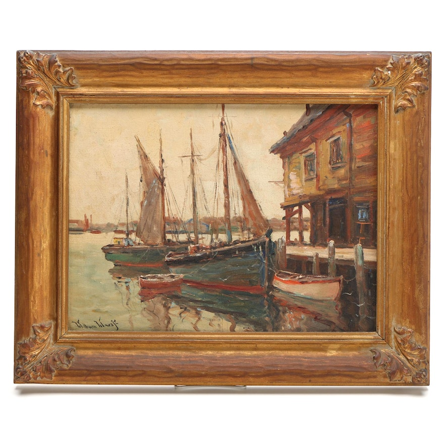 Gloucester Harbor Painting