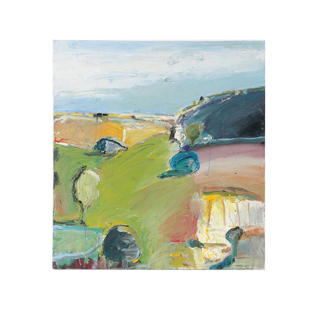Robert T. Baribeau Acrylic Painting on Canvas Landscape