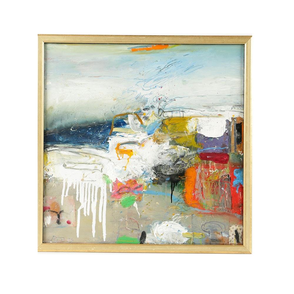 "Robert T. Baribeau Mixed Media on Canvas ""Color Wall Series"""